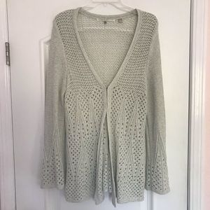 ANTHROPOLOGIE KNITTED KNOTTED CARDIGAN